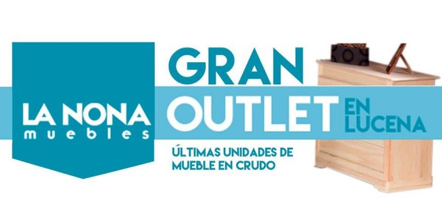 Gran outlet del mueble crudo en la nona muebles for First outlet muebles
