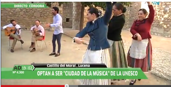 Candidatura «City of Music» Lucena presentada en Andalucia Directo (Video)