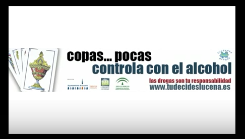 «Copas Pocas» nueva campaña contra el alcohol del Ayto.de Lucena