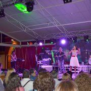 Nuria Fergó en concierto en la Feria de San Francisco de Lucena