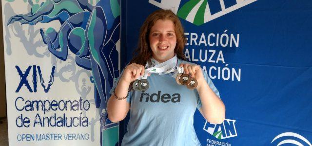 NATACIÓN, La lucentina Elia Mª Cuenca consigue 5 medallas en el XIV Campeonato de Andalucía Open Máster de verano en Palma del Río