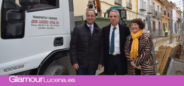 El Delegado del Gobierno Gómez de Celis visita Lucena y se firma el convenio VioGen