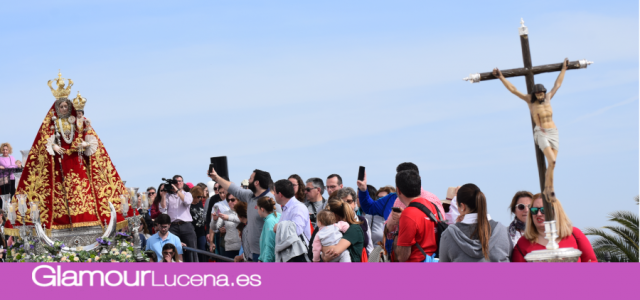 La Virgen de Araceli procesiona en el Santuario de Aras con motivo del Jubileo del Sagrado Corazón de Jesús