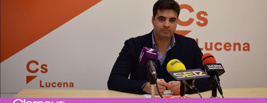 Jesús López García tomará posesión este Lunes de su cargo como concejal del Partido Ciudadanos en Lucena