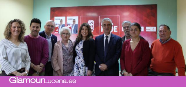 """PSOE LUCENA Juan Pérez destaca la candidatura por su """"experiencia en la gestión, juventud, cohesión e ilusión"""""""