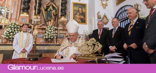 El hermanamiento de la Virgen de Araceli y la Virgen de la Sierra acto ejemplar para todos los hermanos