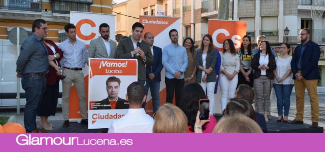 Ciudadanos Lucena presenta su candidatura para las Elecciones Municipales en el Paseo del Coso