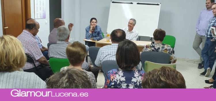 Juan Pérez se reúne con la Federación de Asociaciones de Vecinos de Lucena para escuchar sus inquietudes