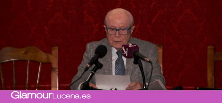 El cronista Don José Luis Sánchez  imparte una conferencia sobre la historia del bastón que distingue a la virgen de Araceli
