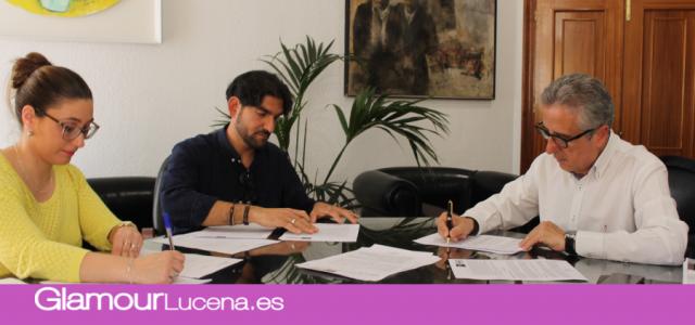 Firmados los convenios con los primeros emprendedores del Vivero de Empresas de Lucena