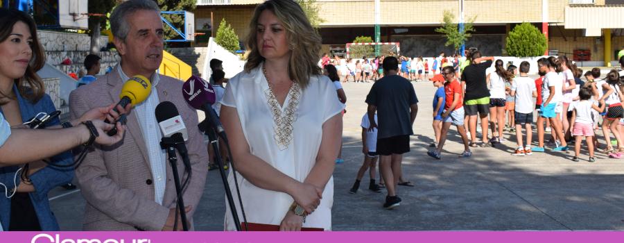 Arranca la primera quincena de las Ludotecas de Verano con la visita de las autoridades locales