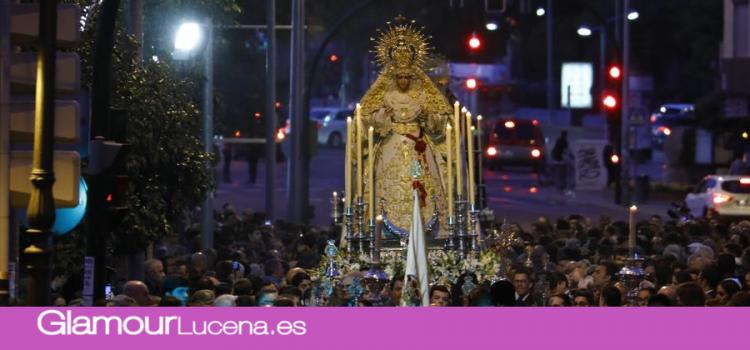 Imágenes de María Santísima de la Paz «Campanitas» por las Calles de Córdoba