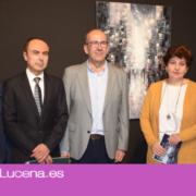 Se inaugura una exposición del pintor internacional José Dominguez en el Palacio de  los Condes de Santa Ana