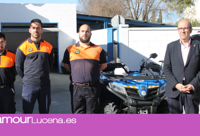 Protección Civil amplía su flota de vehículos con un nuevo quad