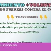 El Ayuntamiento de Lucena ofrece nuevos servicios de ayuda y asesoramiento a la ciudadanía ante el Covid-19