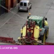 Agricultores participarán con sus tractores en la desinfección de las calles de Lucena