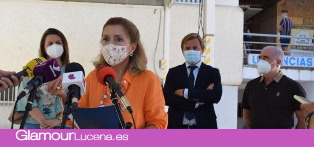 La Junta de Andalucía visita las nuevas obras del ascensor para el centro de Salud Lucena I