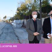 Las obras de saneamiento de Lucena Oeste avanzan a buen ritmo subsanando problemas de alcantarillado y posibles inundaciones