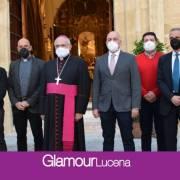 El obispo de Córdoba visita las obras de restauración de la Parroquia de Santiago Apóstol