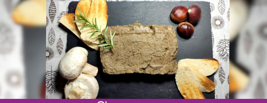 RECETA A 4 MANOS: Paté vegano de castañas y champiñones