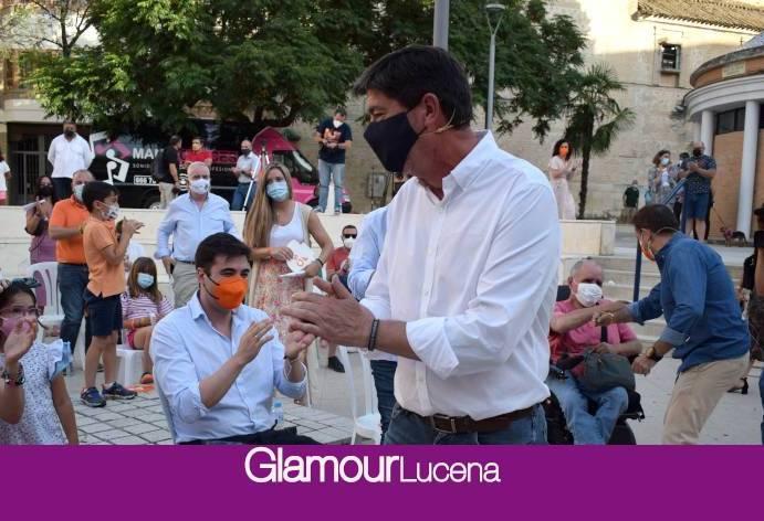 Juan Marín, vicepresidente de la Junta de Andalucía, ha celebrado esta tarde un encuentro con afiliados y simpatizantes de Ciudadanos en Lucena