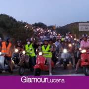 El Vespa Club Lucena reunía 120 motos en la 9ª Ruta Nocturna en Vespa